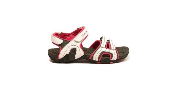 Dámske bielo-červené trekové sandálky Numero Uno