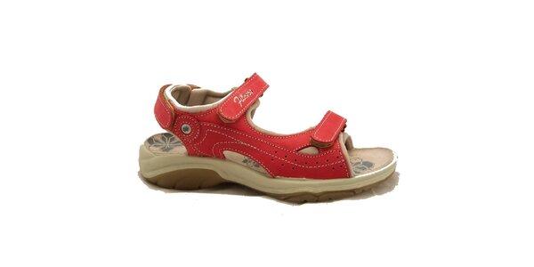 Dámske červené trekové sandálky Numero Uno