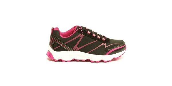 Dámske ružovo-čierne trekové topánky Numero Uno