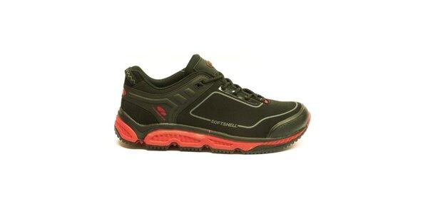 Pánske čierno-červené trekové členkové topánky Numero Uno