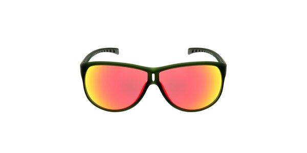 Zelené slnečné okuliare s červenými sklami Red Bull