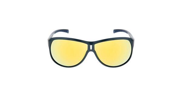 Modré slnečné okuliare so žltými sklami Red Bull