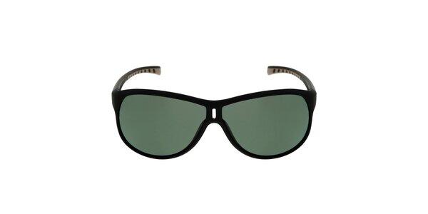 Čierne slnečné okuliare se zelenými sklami Red Bull