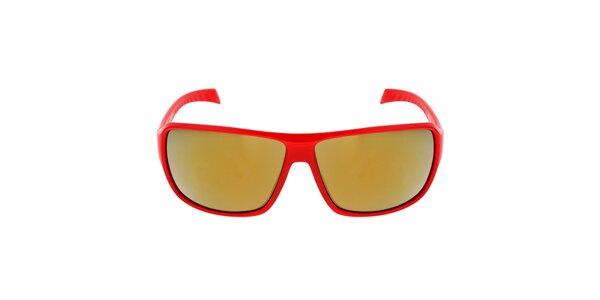 Červené plastové slnečné okuliare Red Bull