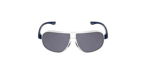 Strieborné oválne slnečné okuliare Red Bull