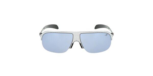 Kovové slnečné okuliare s modro zafarbenými sklíčkami Red Bull