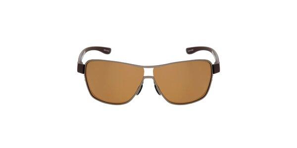 Hnedé kovové slnečné okuliare Red Bull
