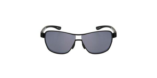 Čierne kovové slnečné okuliare so šedými sklami Red Bull