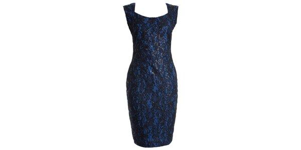 Dámske kobaltovo modré večerné šaty JDC London