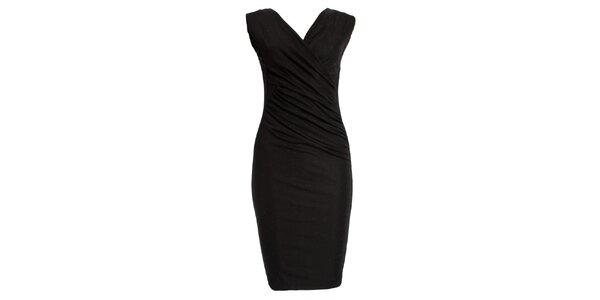 Dámske trblietavé čierne šaty JDC London