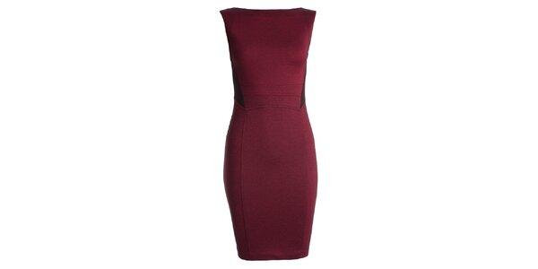 Dámske červené púzdrové šaty JDC London