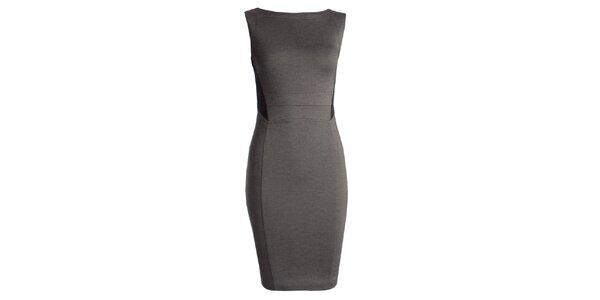 Dámske šedé púzdrové šaty JDC London