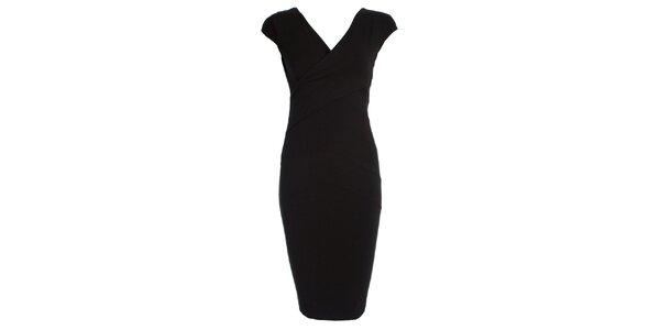 Dámske čierne púzdrové šaty JDC London