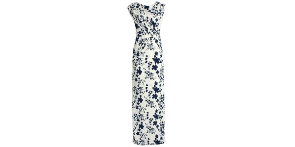 Dámske krémovo biele šaty s kvetinovou potlačou JDC London