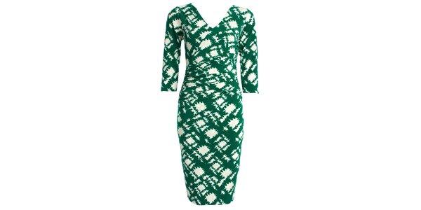 Dámske zeleno-biele šaty JDC London