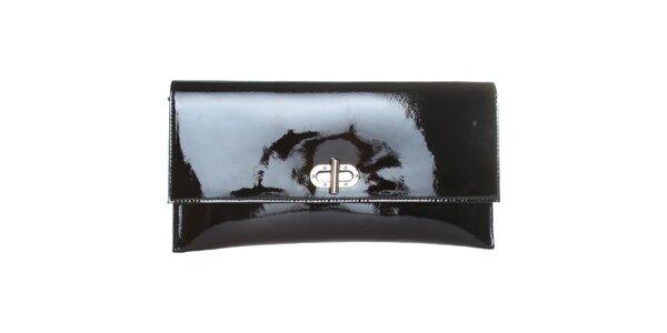 Dámska čierna lakovaná kabelka Made in Italia