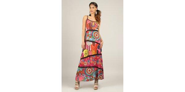 Dámske farebné šaty s čiernymi lemami Ziva