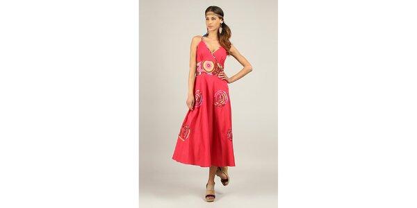 Dámske fuchsiovo červené dlhé šaty Ziva