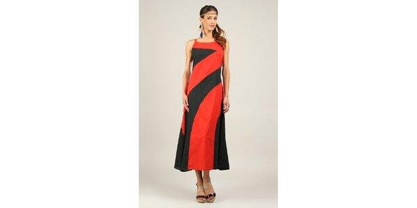 Dámske červeno-čierne šaty Ziva