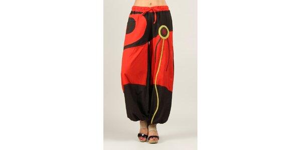 Dámske červeno-hnedé nohavice Ziva