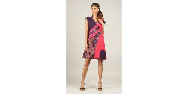Dámske fialovo-ružové šaty Ziva