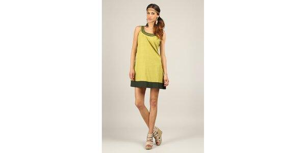 Dámske žltozelené šaty Ziva