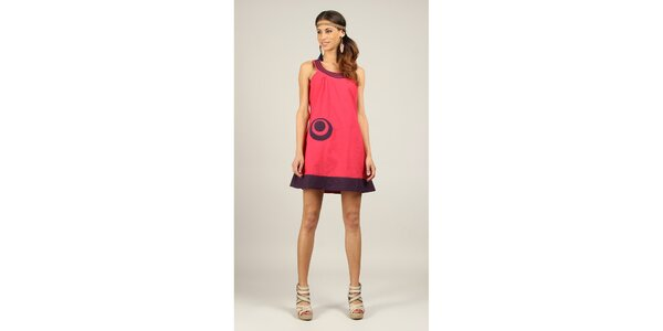 Dámske fuchsiovo-fialové šaty Ziva