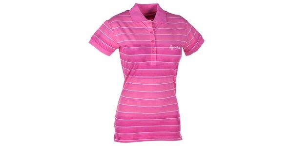 Dámske ružové pruhované polo tričko Kilpi