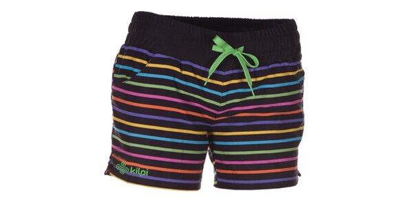 Dámske farebne pruhované šortky Kilpi