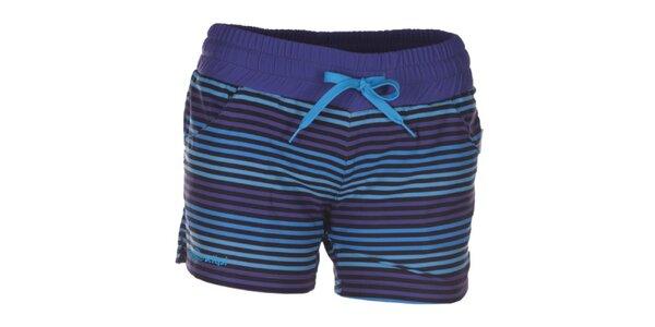 Dámske modro a fialovo pruhované šortky Kilpi