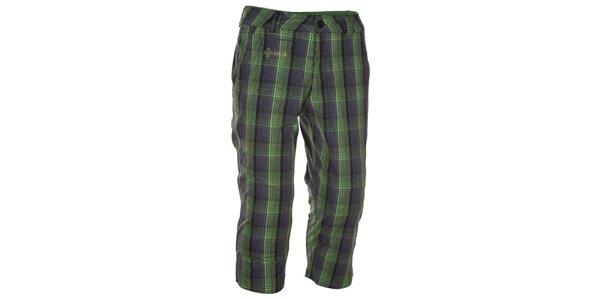 Pánske zeleno kockované 3/4 nohavice Kilpi