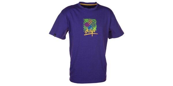 Pánske fialové tričko s farebnou potlačou Kilpi