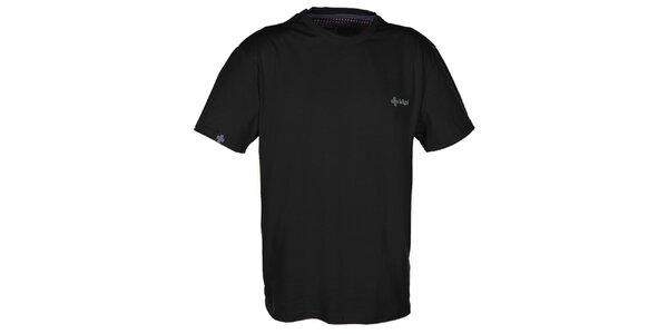 Pánske čierne tričko s krátkym rukávom Kilpi