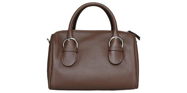 Dámska čokoládovo hnedá kabelka Made in Italia