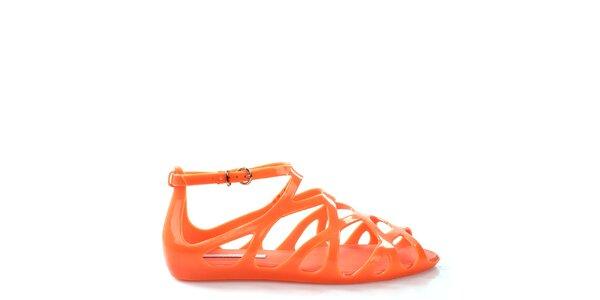 Dámske korálovo oranžové sandále Melissa