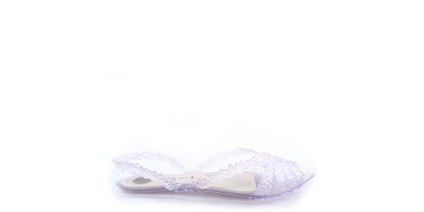 Dámske transparentné sandále s kvietkami Melissa