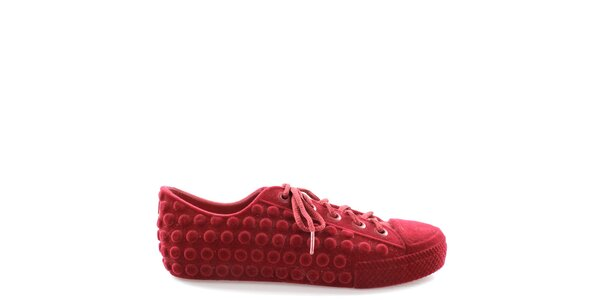 Dámske červené tenisky s bodkami Melissa