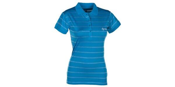 Dámske modré pruhované polo tričko Kilpi