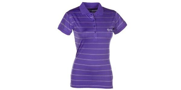 Dámske fialové pruhované polo tričko Kilpi