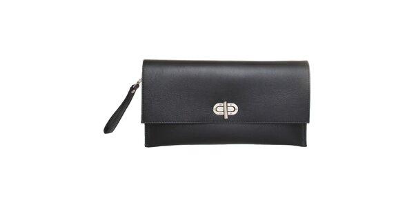 Dámska čierna kožená kabelka Made in Italia