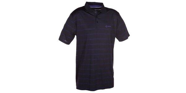 Pánske čierne pruhované polo tričko Kilpi