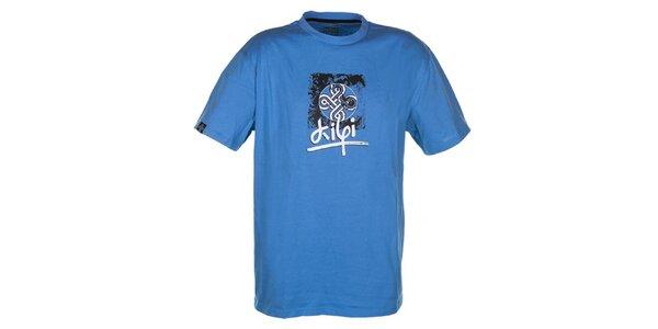 Pánske modré bavlnené tričko Kilpi