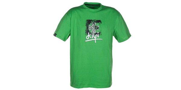 Pánske zelené bavlnené tričko Kilpi