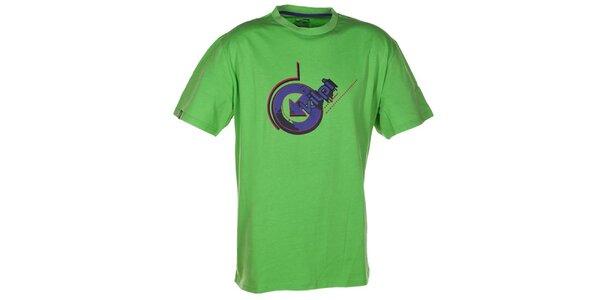 Pánske zelené tričko s fialovou potlačou Kilpi