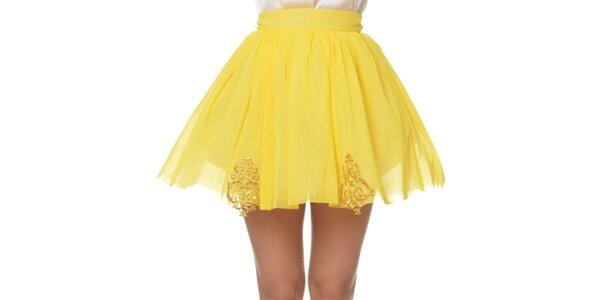 Dámska kanárikovo žltá sukňa Dia Vynne