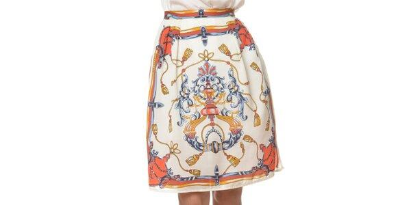 Dámska biela sukňa s potlačou Dia Vynne