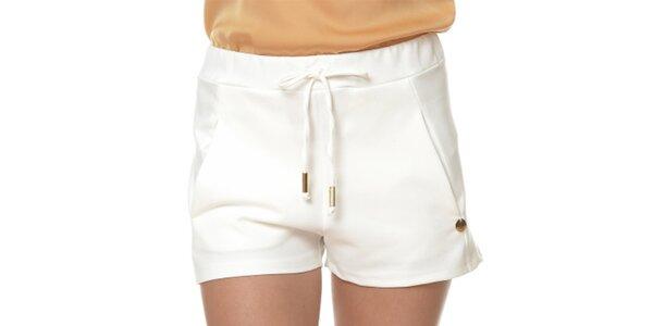 Dámske biele šortky so šnúrkou Dia Vynne