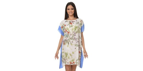 Dámske šatkové šaty s modrými lemami Dia Vynne