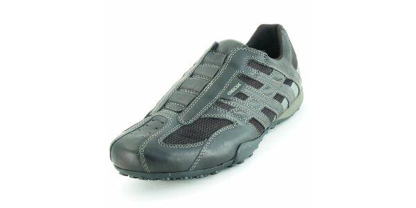 Pánske čierne športové topánky Geox