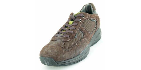 Pánske hnedé semišové topánky Geox